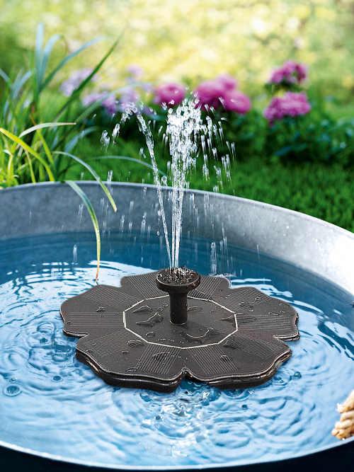 Levná solární fontána na zahradu