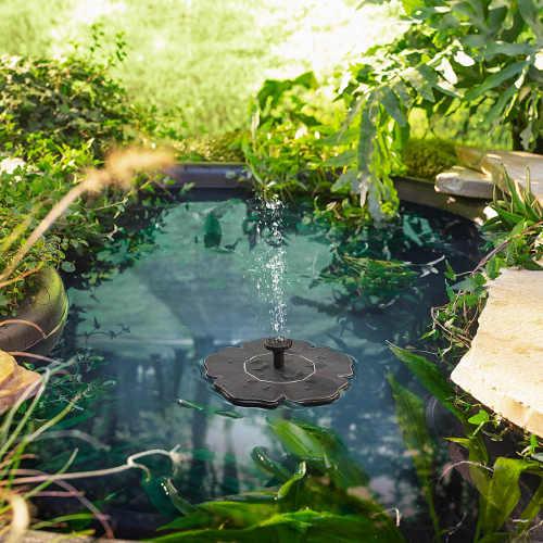 Levná solární fontána do rybníčku