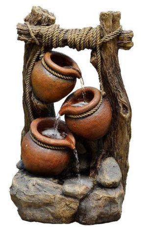 Zahradní fontána z umělého kamene Tři džbánky