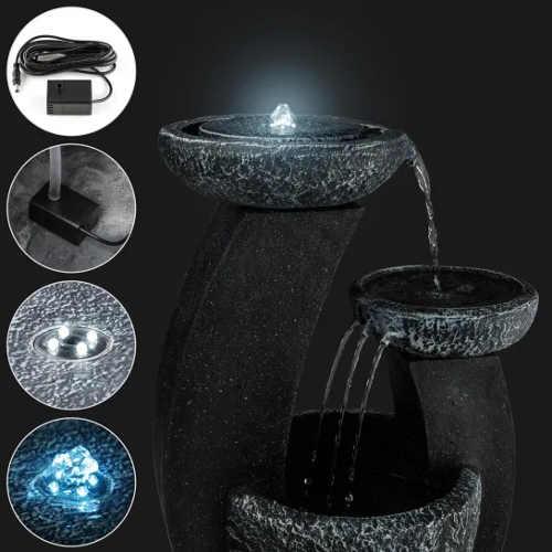 Zahradní kašna z umělého kamene s LED osvětlením