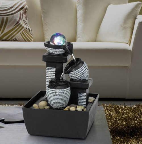 Relaxační svítící fontánka do obývacího pokoje