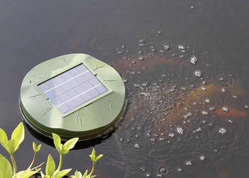 Vzduchování zahradního jezírka na solární pohon