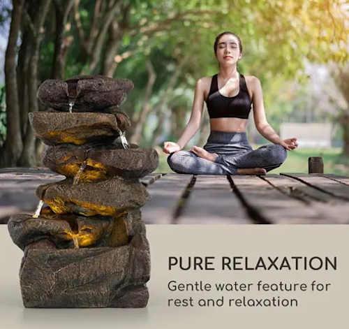Kašna pro relaxaci a meditaci na zahradě