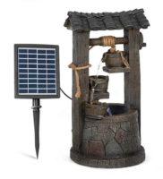 Solární fontána imitace studny na zahradu